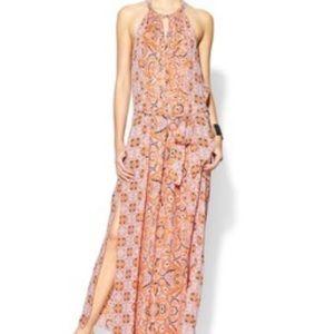 BCBGMaxAzria Halter Paisley Maxi Dress XS
